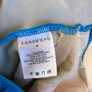 Lands' End Swim - Blue Lands' End One Piece Swimsuit